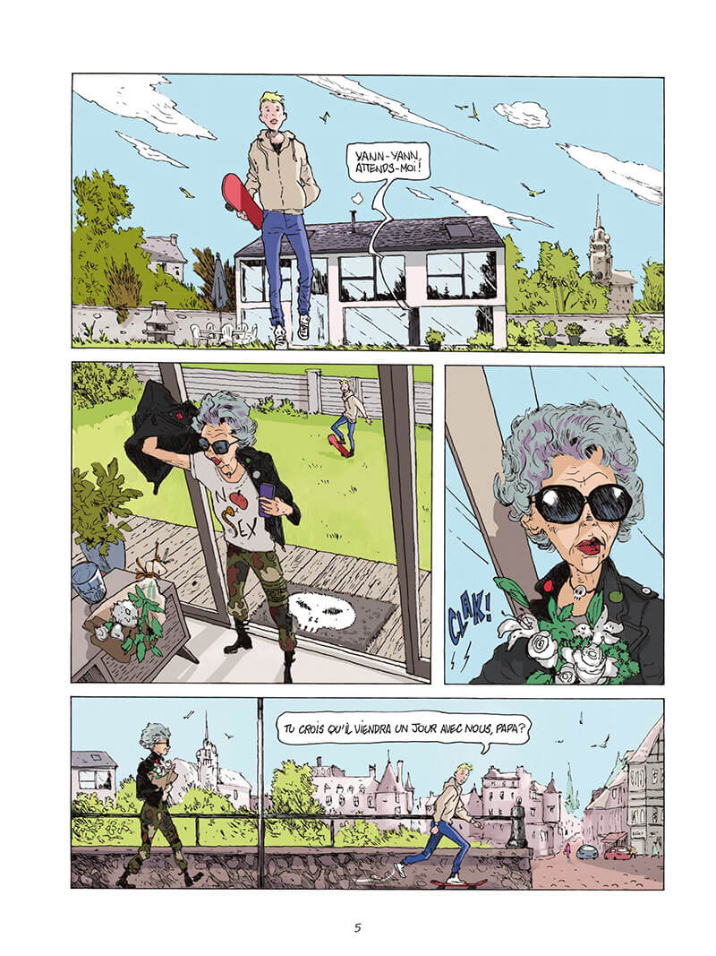Punk Mamy, planche du tome 1 © Jungle / Chabert / Lafesse