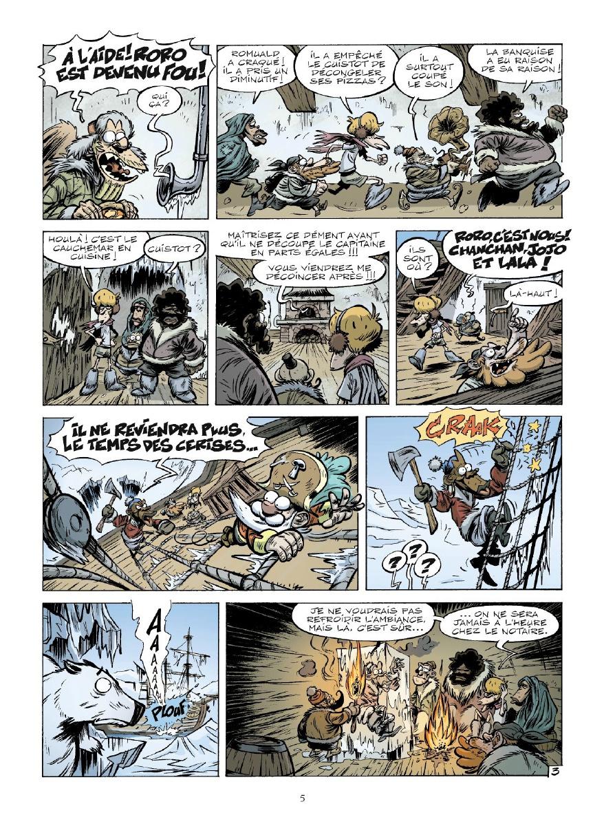 Ratafia, planche du tome 8 © Vents d'Ouest / Pilet / Pothier / Salsedo