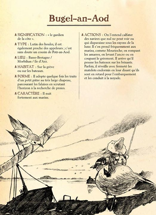 Répertoire des lutins de Bretagne, planche de l'album © Coop Breizh / Heurteau / Jezo-Vannier