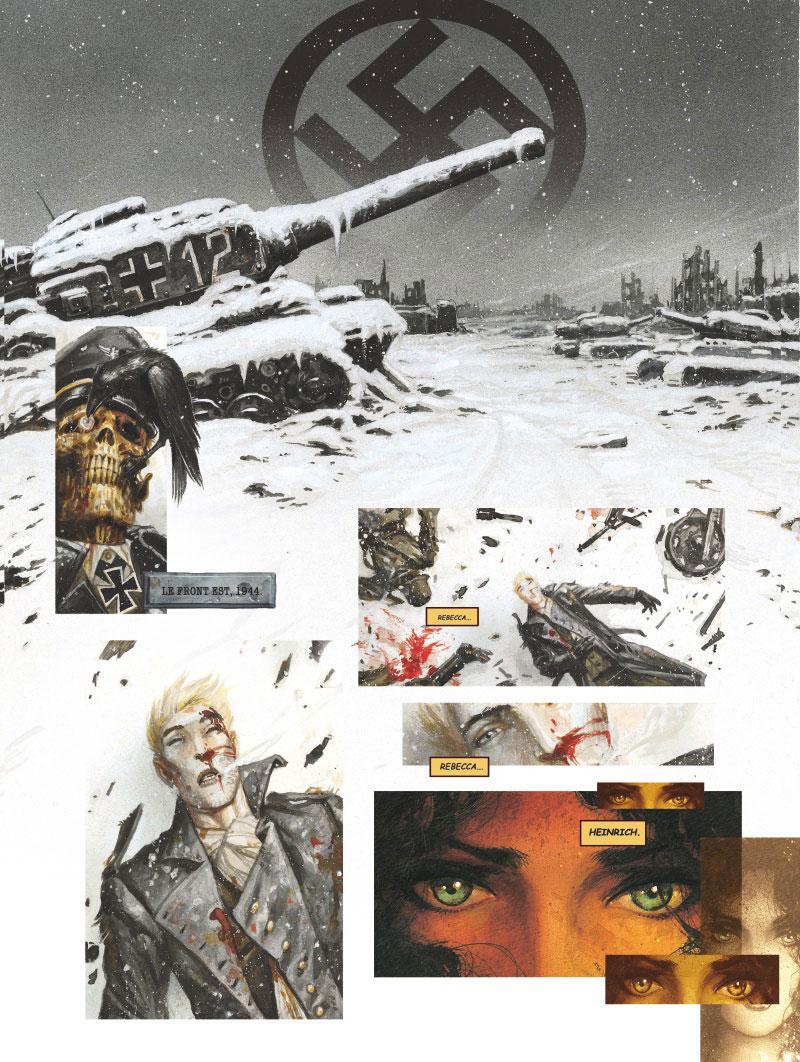 Requiem, Chevalier Vampire, planche du tome 1 © Glénat / Ledroit / Mills
