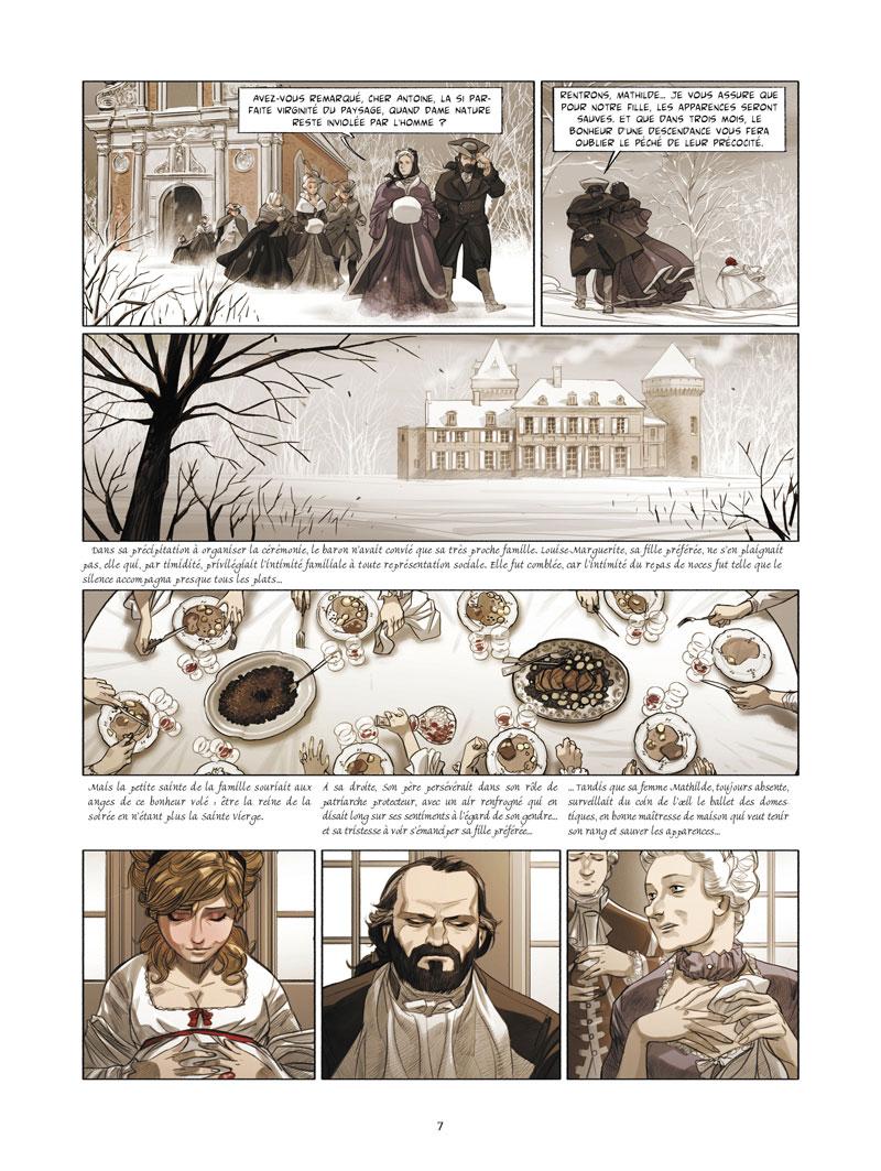 La Guerre des Sambre - Maxime & Constance, planche du tome 2 © Glénat / Boidin / Yslaire