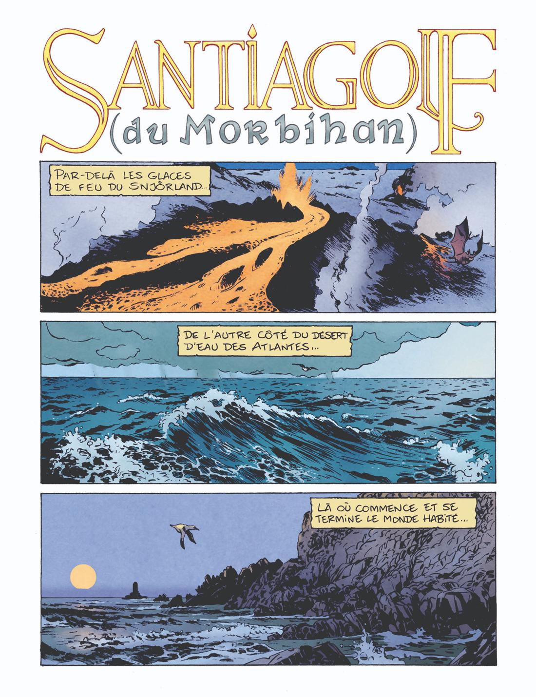 Santiagolf du Morbihan, planche de l'album © Vraoum / B-gnet