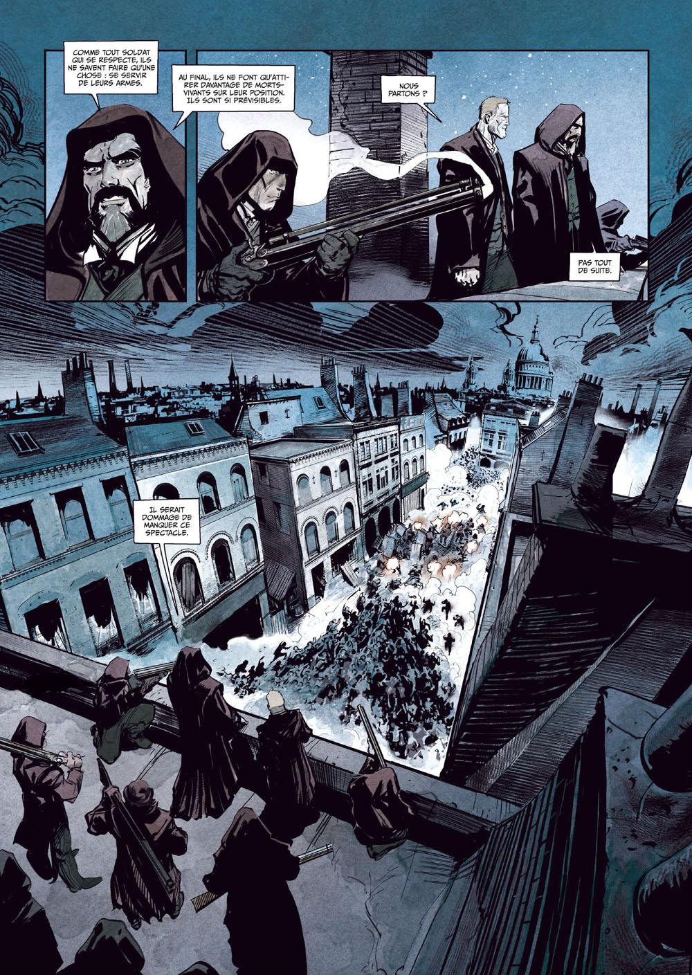 Sherlock Holmes Society, planche du tome 4 © Toulhoat / Cordurié / Gonzalbo