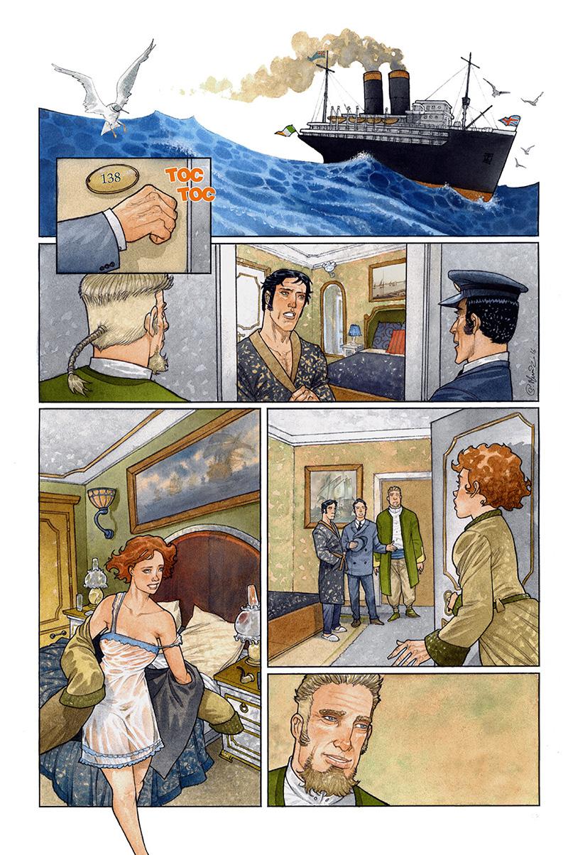 Sherlock Holmes, planche du tome 3 © Le Verger / Manunta / Seiter