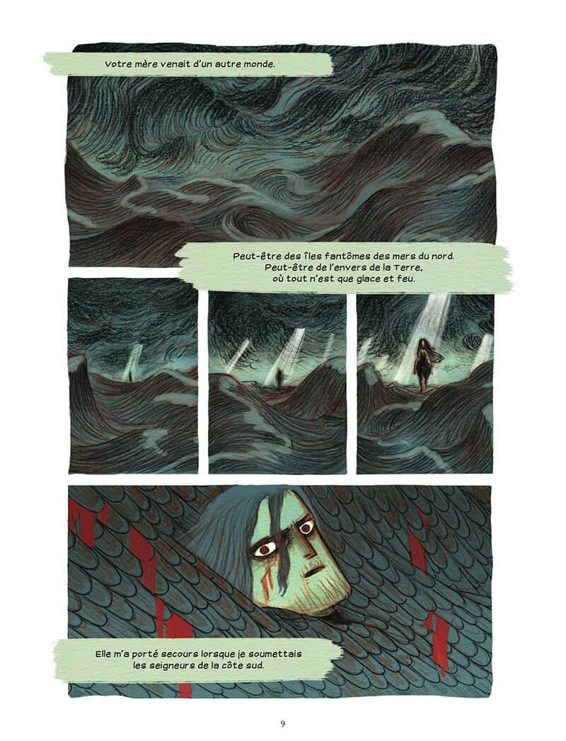 Soeurs d'Ys - La malédiction du royaume englouti, planche de l'album © Rue de Sèvres / Rioux / Tobin Anderson