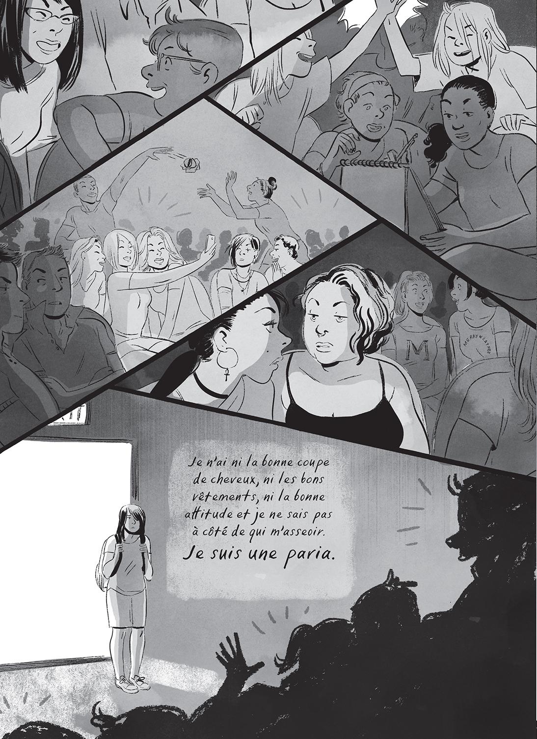 Speak, planche de l'album © Rue de Sèvres / Carroll / Halse Anderson