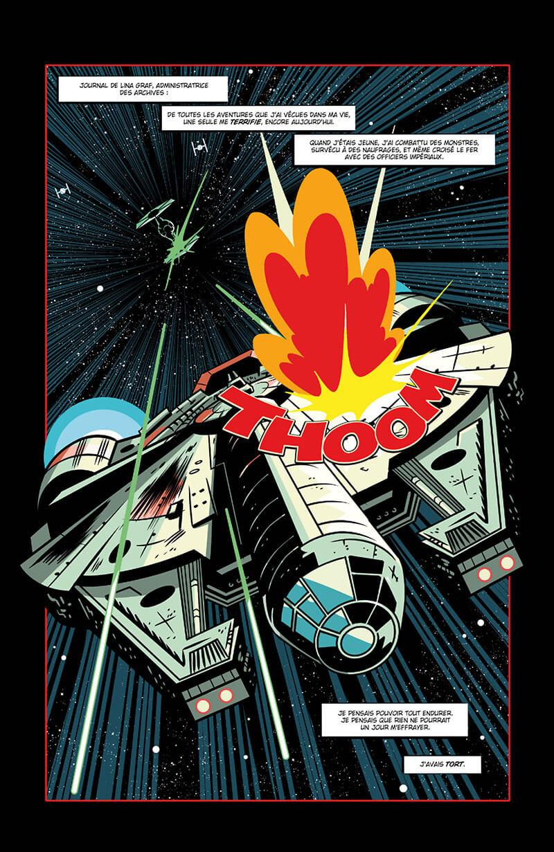 Star wars - Dark Vador, les contes du château, planche de l'album © Delcourt
