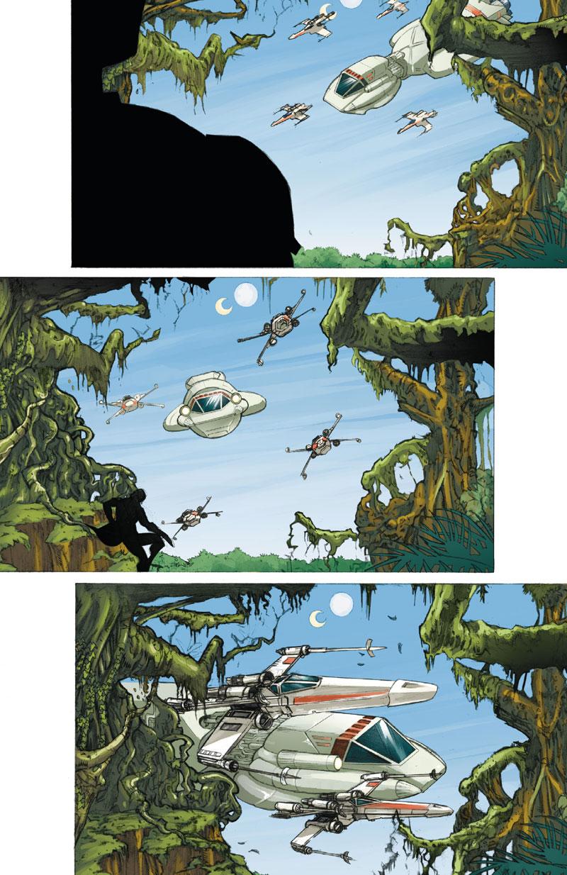 Star Wars - Icone, planche du tome 3 © Delcourt / Melo / Scott / Marz / Atiyeh