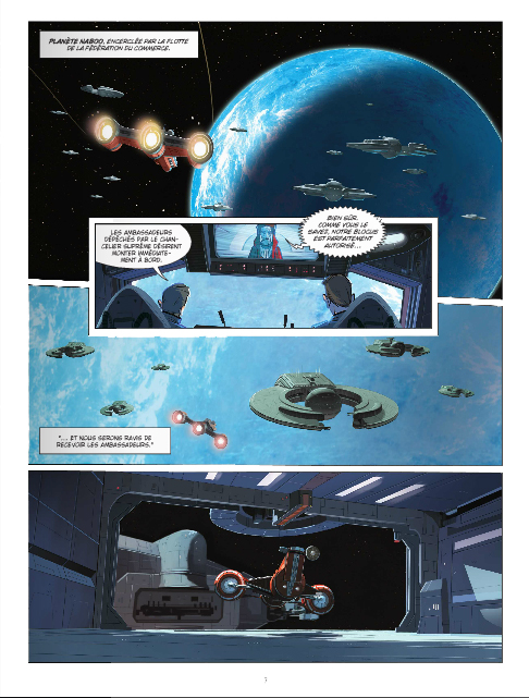 Star wars, Episode 1, planche de l'album © Delcourt
