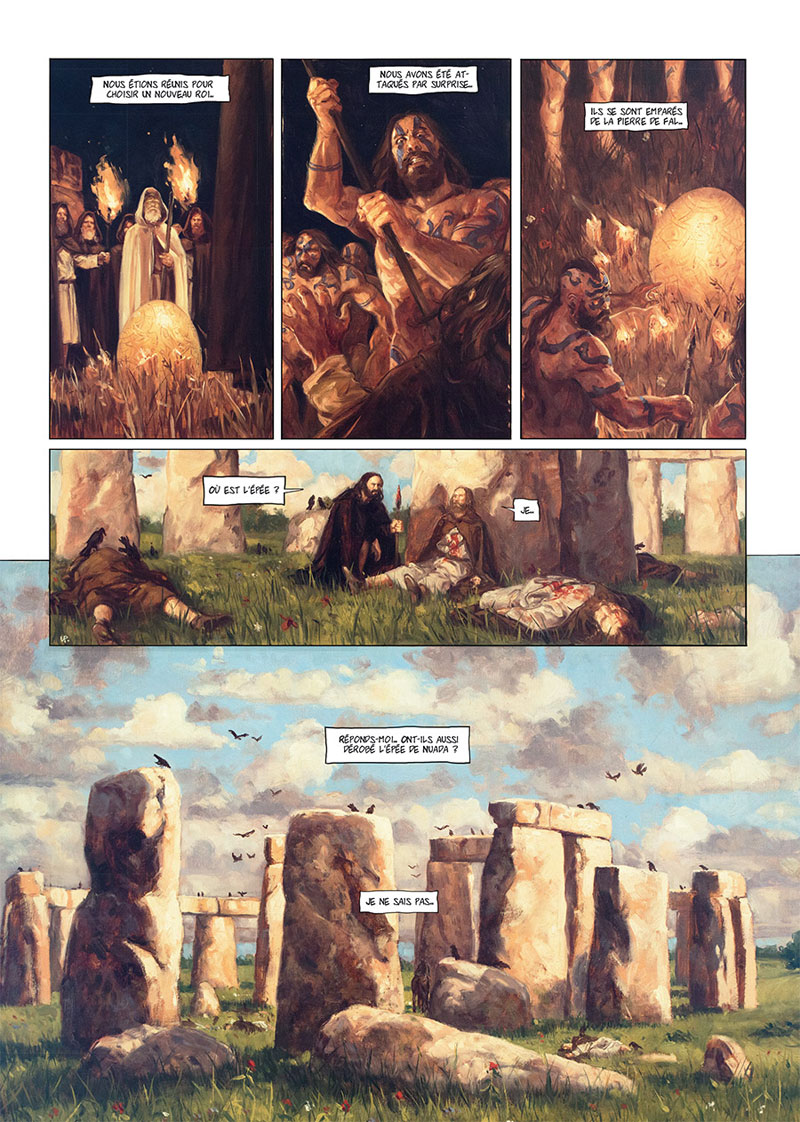 Stonehenge, planche du tome 2 © Soleil / Pinson / Corbeyran