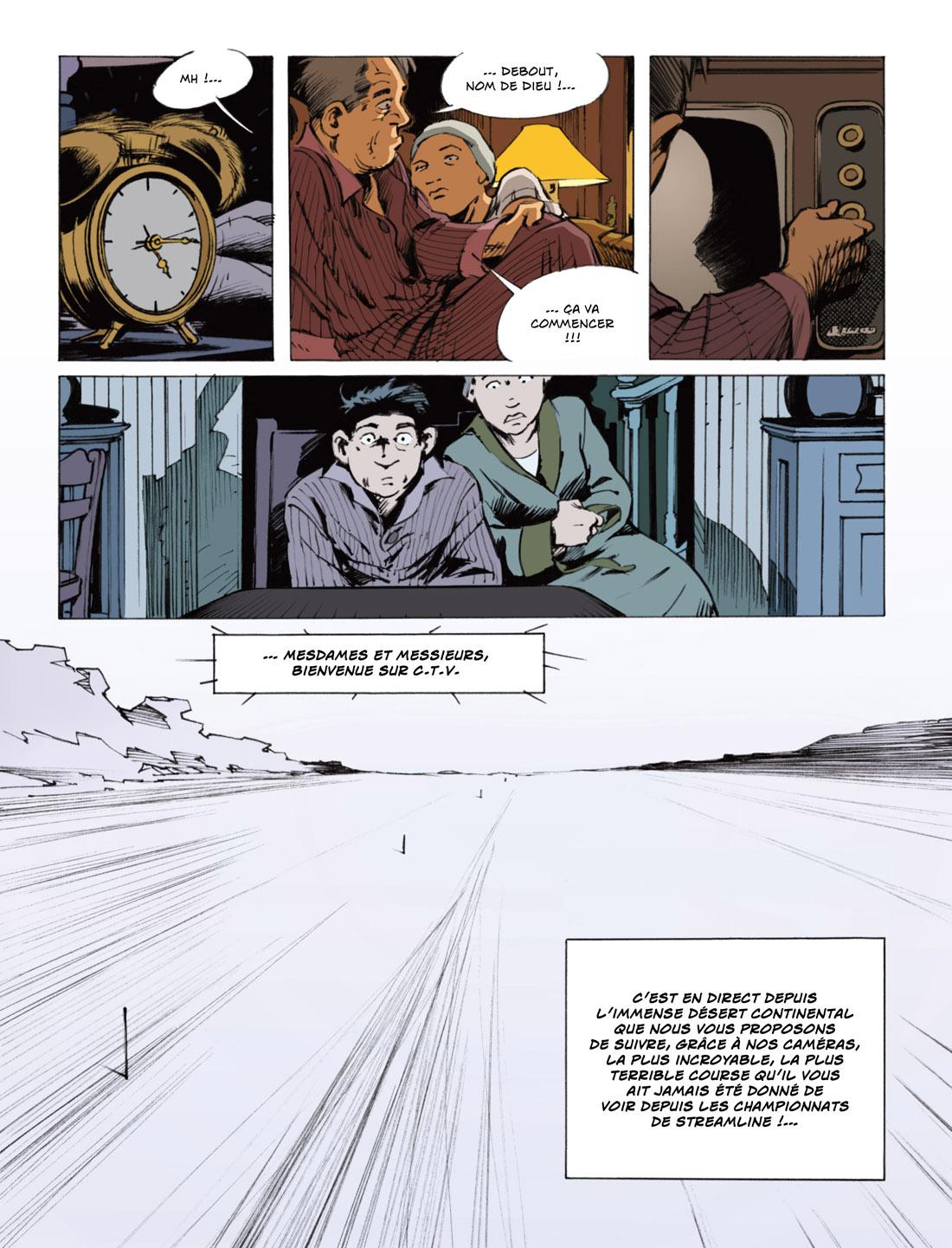 Streamliner, planche du tome 2 © Rue de Sèvres / Fane