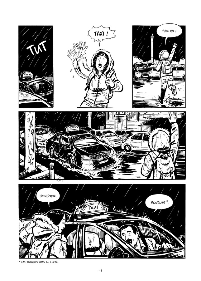 Taxi ! - Récits depuis la banquette arrière, planche de l'album © La Boîte à Bulle / De Jongh