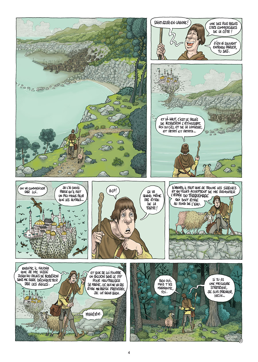 Traquemage, planche du tome 2 © Delcourt / Relom / Lupano / Loublier