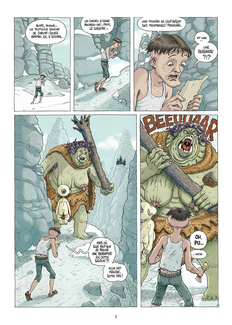Traquemage, planche du tome 3 © Delcourt / Relom / Lupano / Loublier