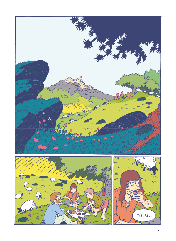 Tristan & Yseult, planche de l'album © Gallimard / Singeon / Maupré