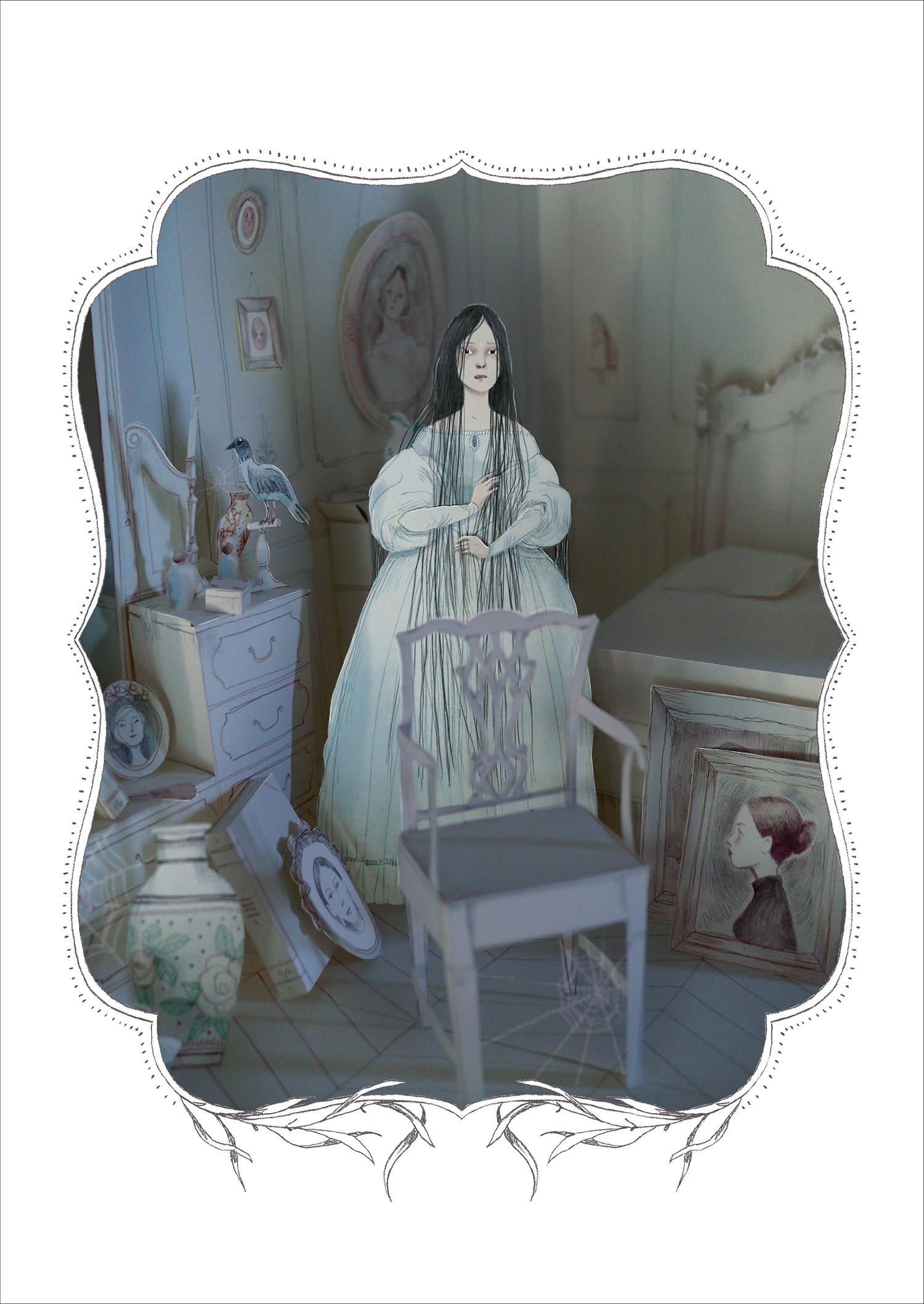 Trois contes de fantômes, planche de l'album © Soleil / Garoche / Maupassant
