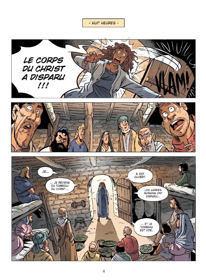 Un jour sans Jésus, planche du livre I © Vents d'Ouest / Pacheco / Césano