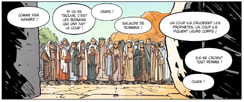 Un jour sans Jésus, case du livre I © Vents d'Ouest / Pacheco / Césano