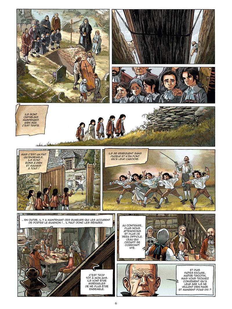 Un loup est un loup, planche du tome 2 © Glénat / Nardo / Makyo / Folco
