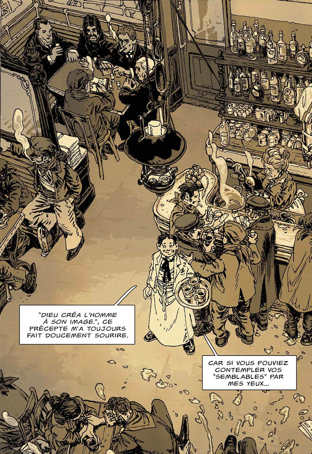 Un récit des contes de la Pieuvre, planche du tome 3 © Delcourt / Gess