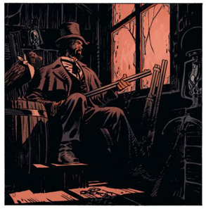 Undertaker, case du tome 2 © Dargaud / Meyer / Dorison / Delabie