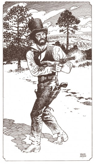 Undertaker, illustration de la page de garde du tome 3 © Dargaud / Meyer / Dorison / Delabie