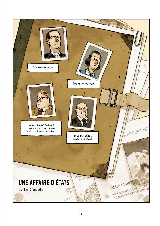Une affaire d'États - le juge Borrel, planche de l'album © Soleil / Martin / Servenay