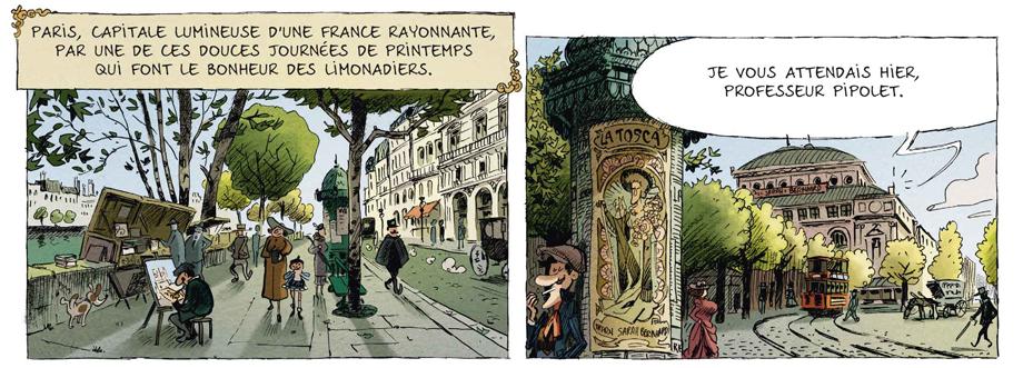 une aventure de Spectaculaires, cases du tome 2 © Rue de Sèvres / Poitevin / Hautière