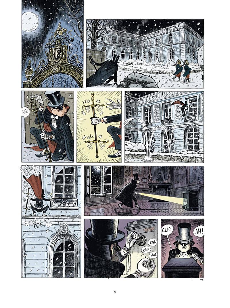 une aventure des Spectaculaires, planche du tome 4 © Rue de Sèvres / Poitevin / Hautière