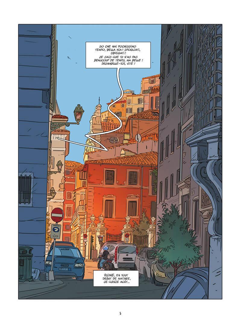 Une Nuit à Rome, planche du tome 4 © Bamboo / Jim / Delphine