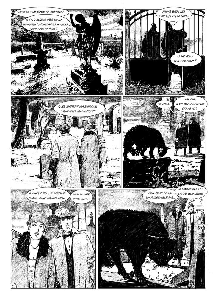 Une nuit avec Lovecraft, planche de l'album © Mosquito / Marcelé / Rodolphe