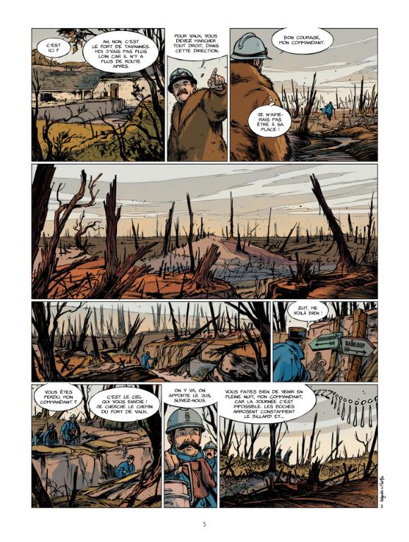 Verdun, planche du tome 2 © Bamboo / Holgado / Le Naour / Bouet