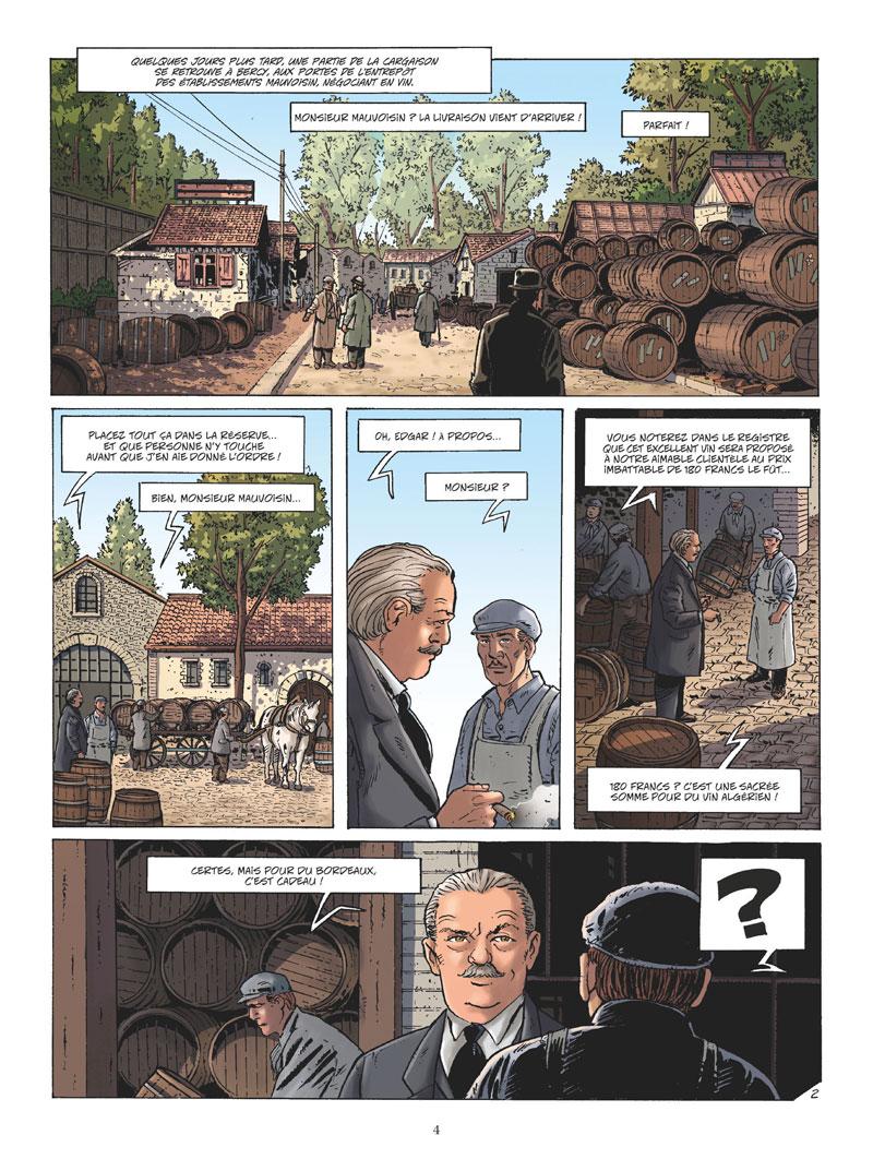 Les révoltes vigneronnes, planche de l'album © Glénat / Rollin / Corbeyran / Minte