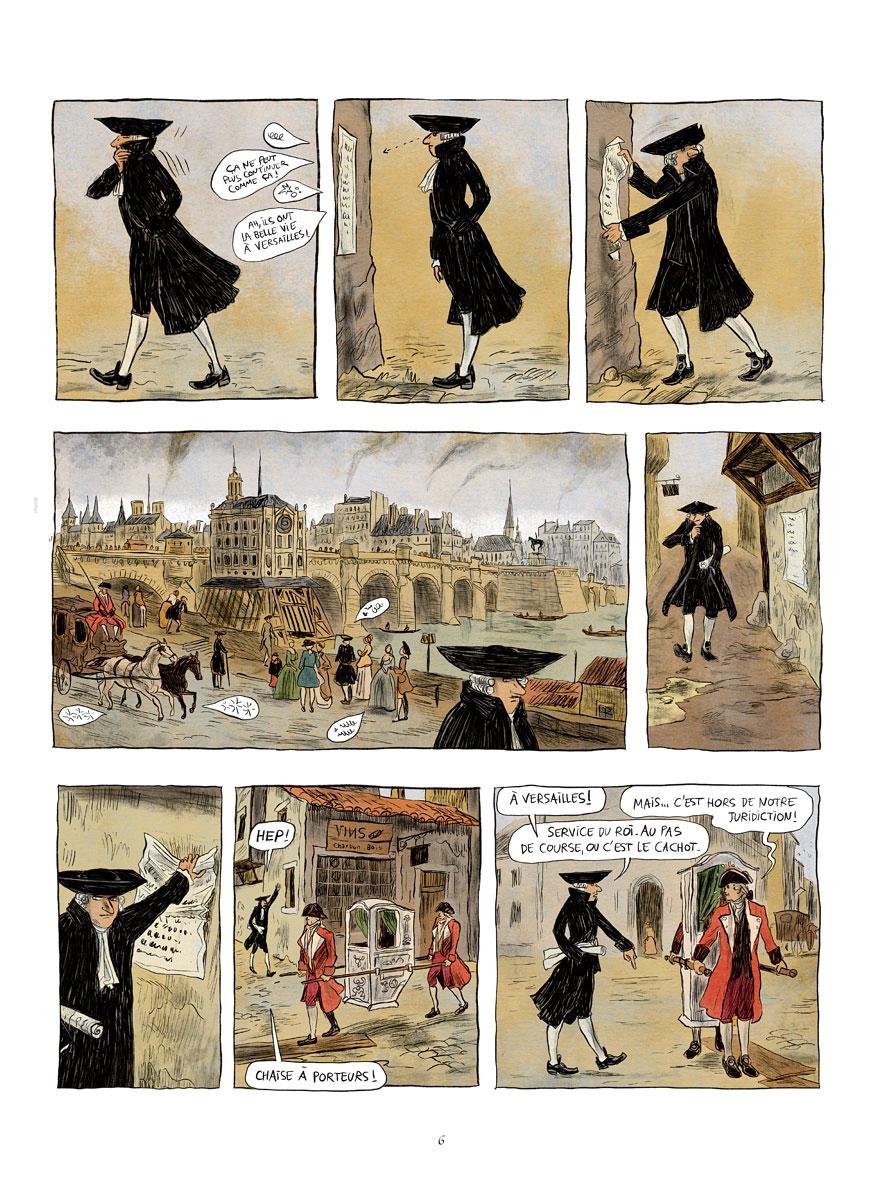 Voltaire amoureux, planche du tome 1 © Les Arènes / Oubrerie