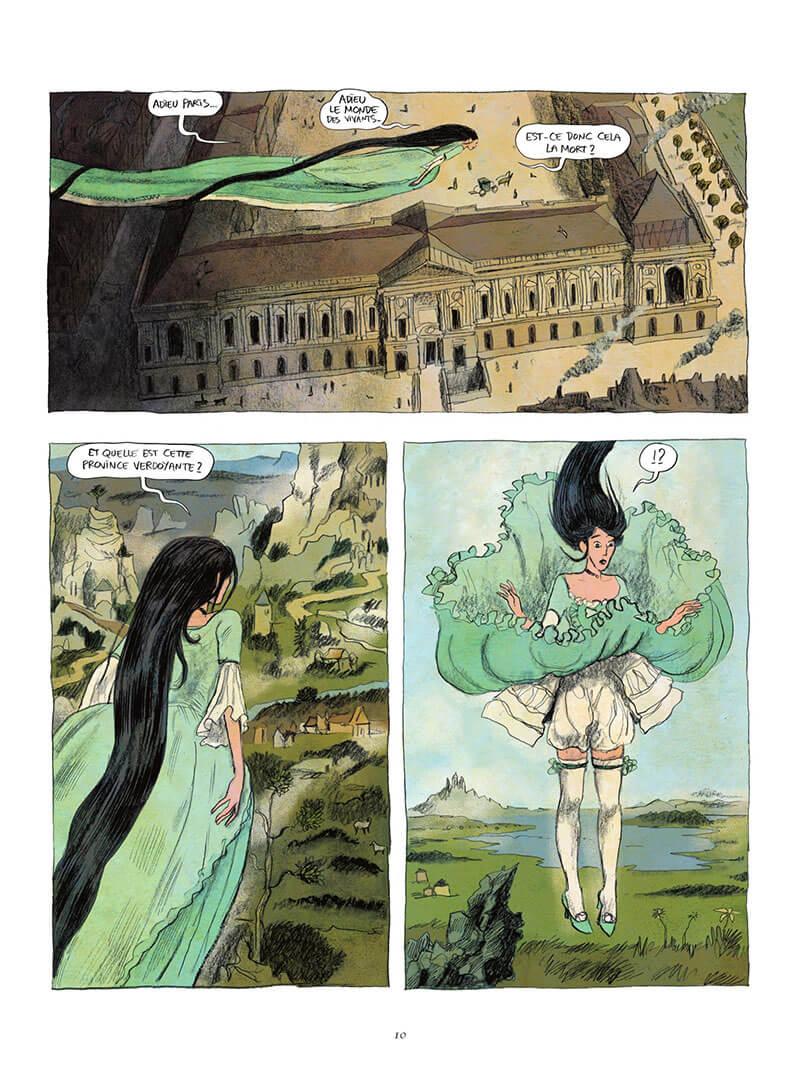 Voltaire amoureux, planche du tome 2 © Les Arènes / Oubrerie / Bègues