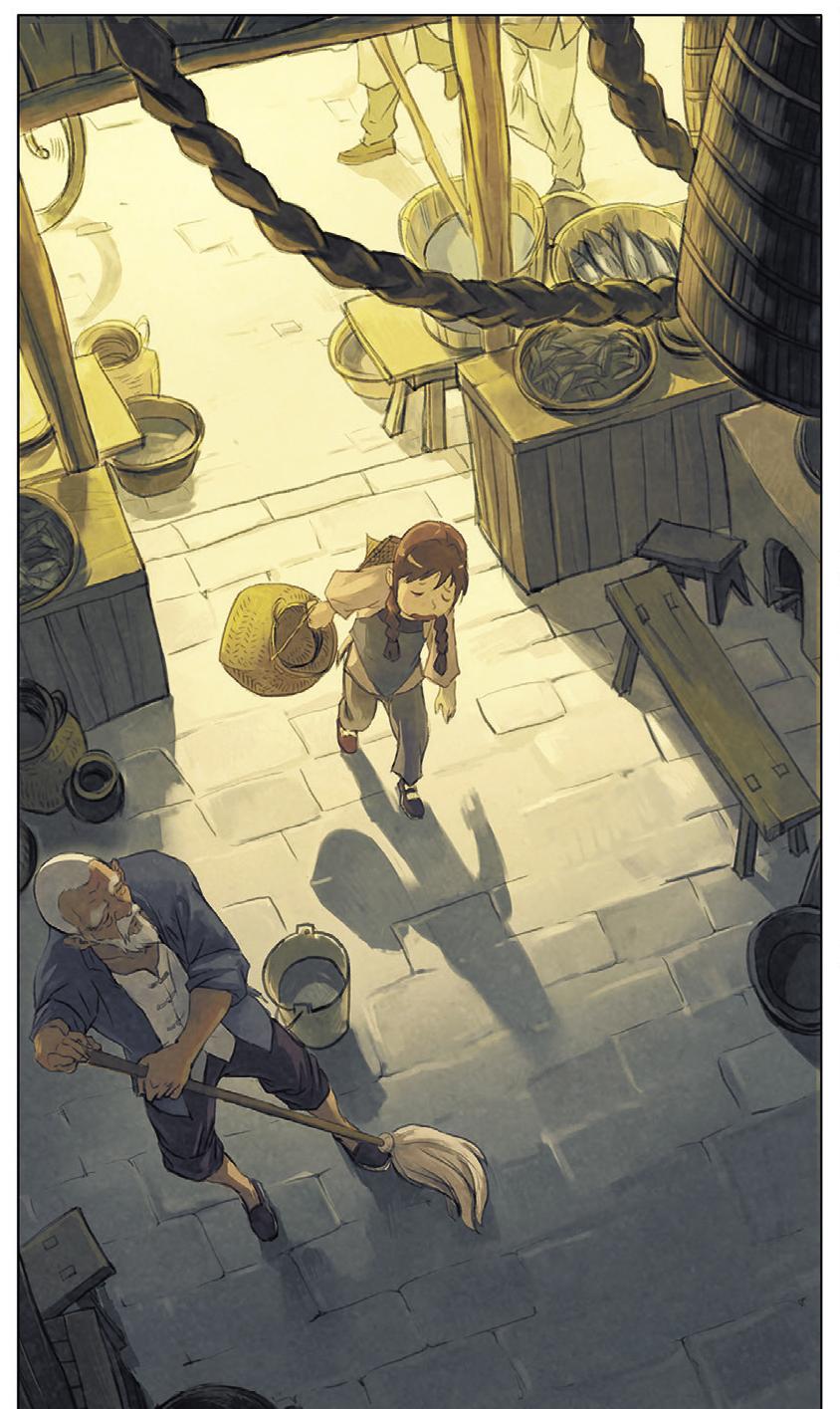 Yin et le Dragon, planche du tome 1 © Rue de Sèvres / Yao / Marazano