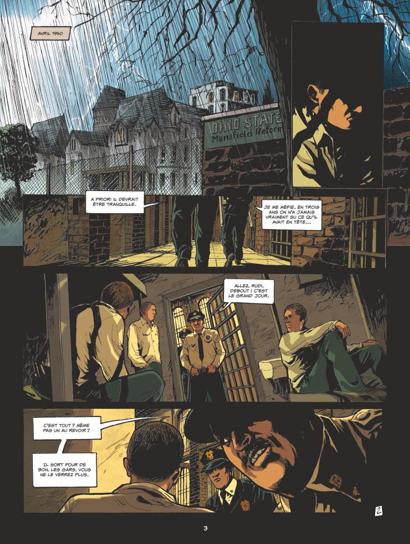 l'Art du Crime, planche du tome 1 © Glénat / Berlion / Omeyer / Favrelle