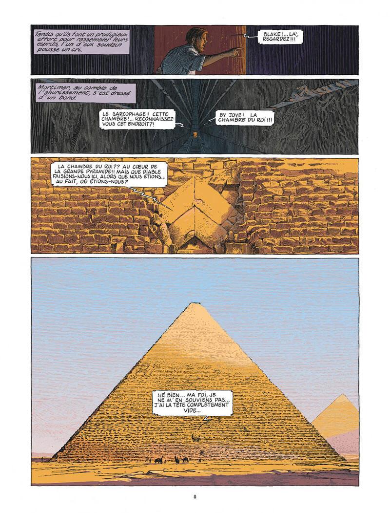 Le Dernier Pharaon, planche de l'album © Dargaud / Schuiten / Gunzig / Van Dormael / Durieux