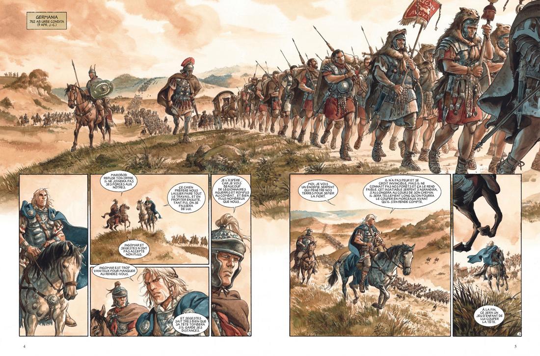 les Aigles de Rome, planche du tome 5 © Dargaud / Marini