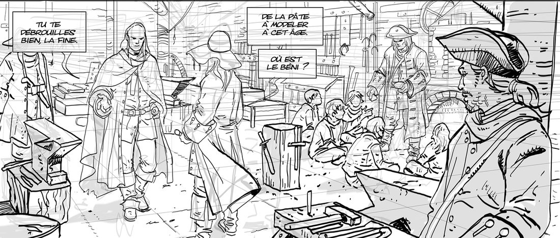 Hyver, tome 2, work in progress © Philippe Xavier / Nathalie Sergeef