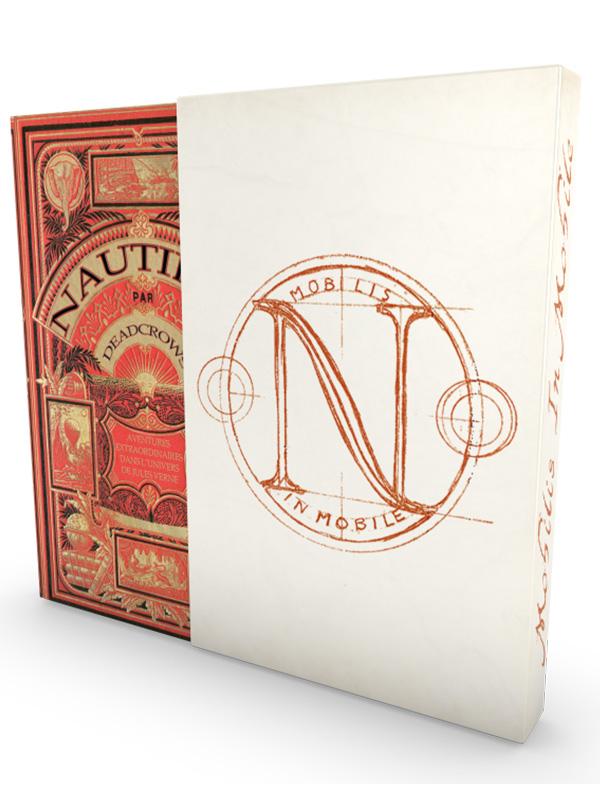 Nautilus, le livre de base et son fourreau © Dead Crows Studio
