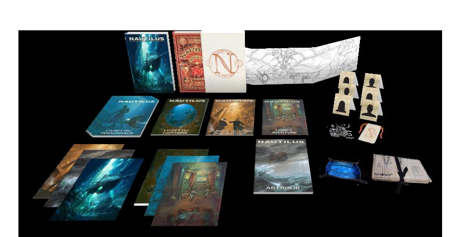 Nautilus, aperçu du matériel de la campagne © Dead Crows Studio