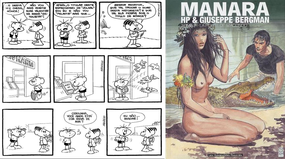 Planche de Turma de Monica et HP Guiseppe Berman de Manara