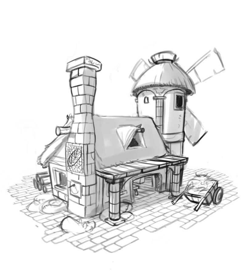 Lutèce, crayonné du moulin © Superlude / Biboun