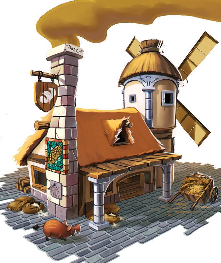 Lutèce, illustration du moulin © Superlude / Biboun