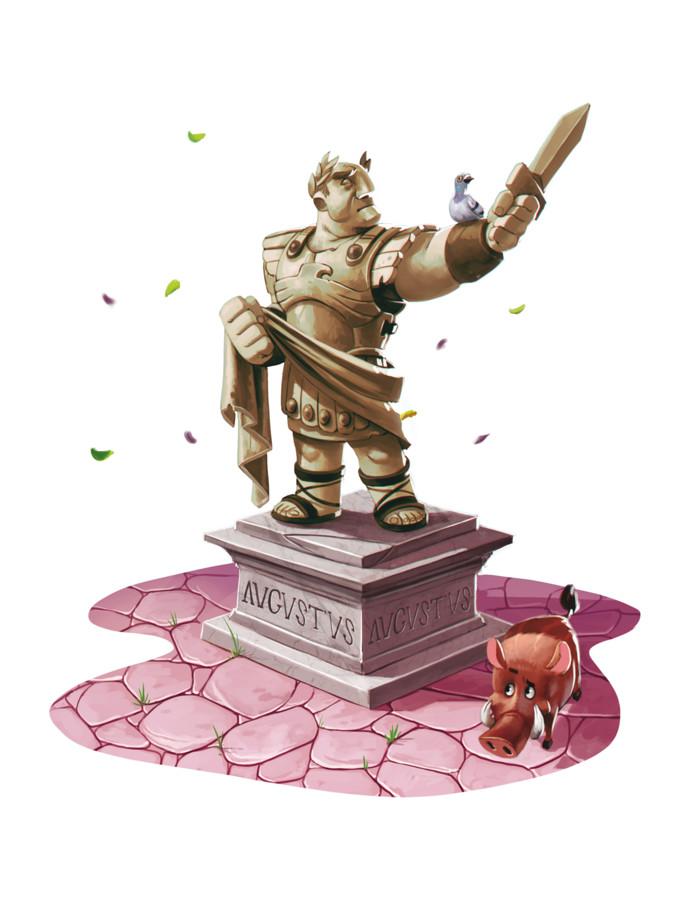 Lutèce, l'auguste statue d'Auguste © Sperlude / Biboun