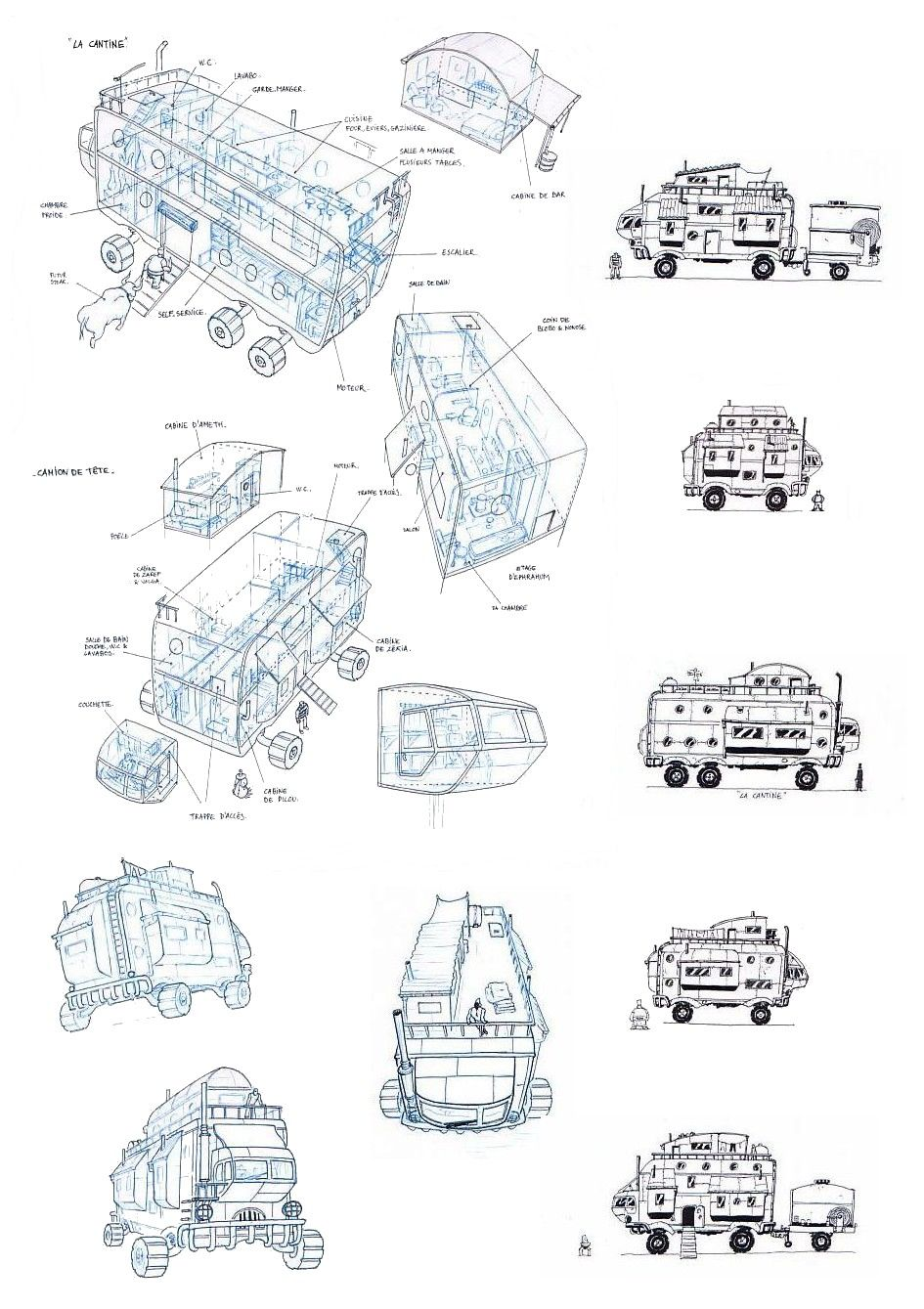 recherches pour les véhicules de Caravane © Olivier Milhiet
