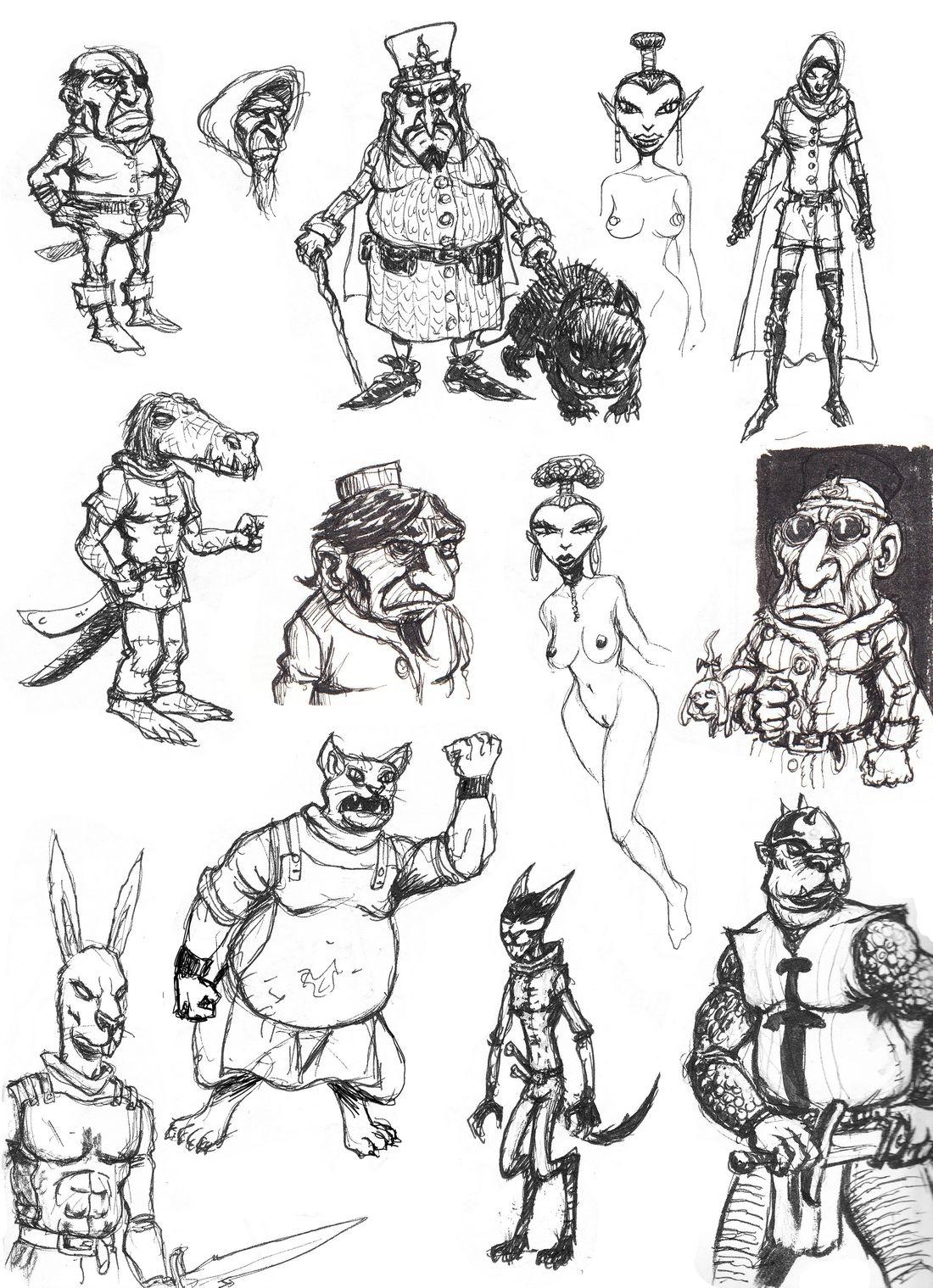 recherhce de personnages pour Venosa © Olivier Milhiet