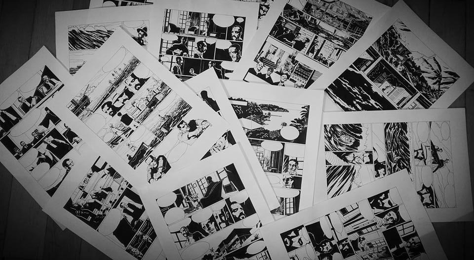Forçat, planches de l'album © Fabien Bedouel