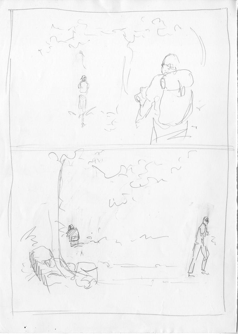Le Passager, storyboard de la planche 12 © Patrice Réglat-Vizzavona